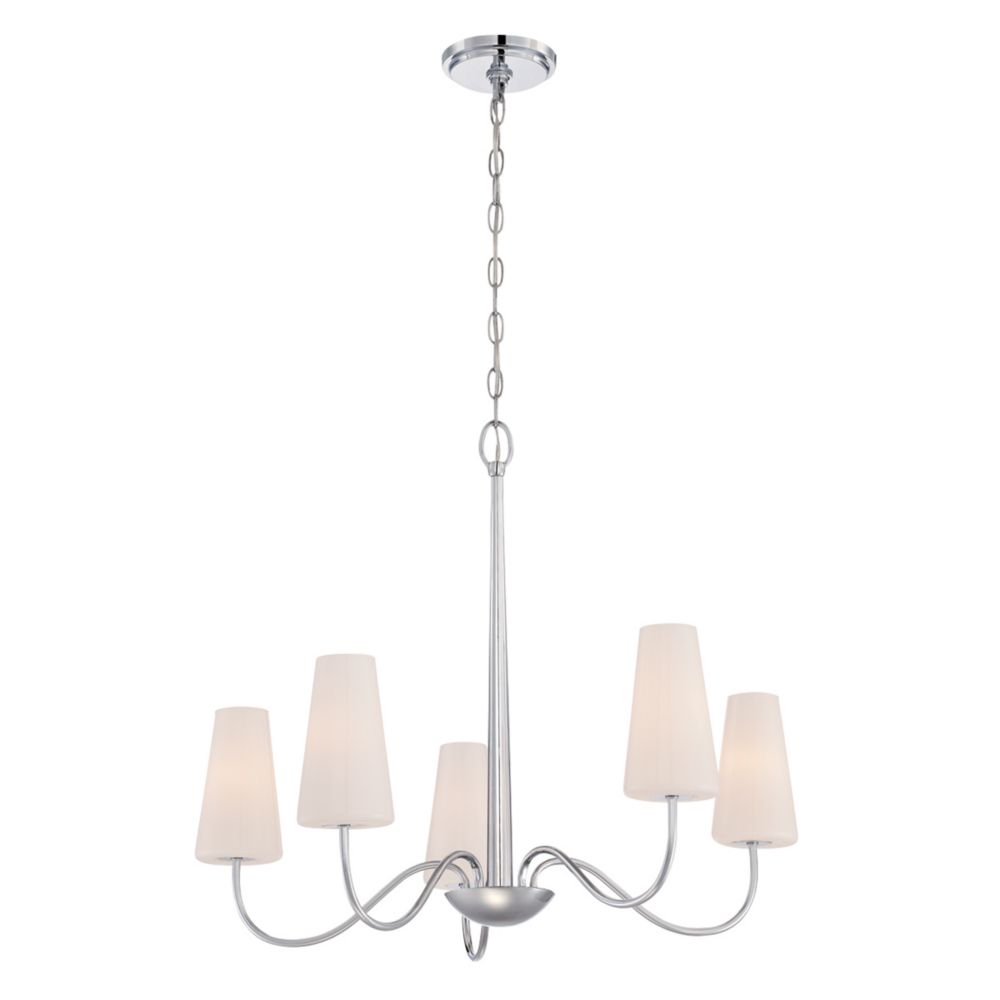 Enza Collection, 5-Light Chrome Chandelier