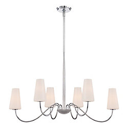 Enza Collection, 6-Light Oval Chrome Chandelier