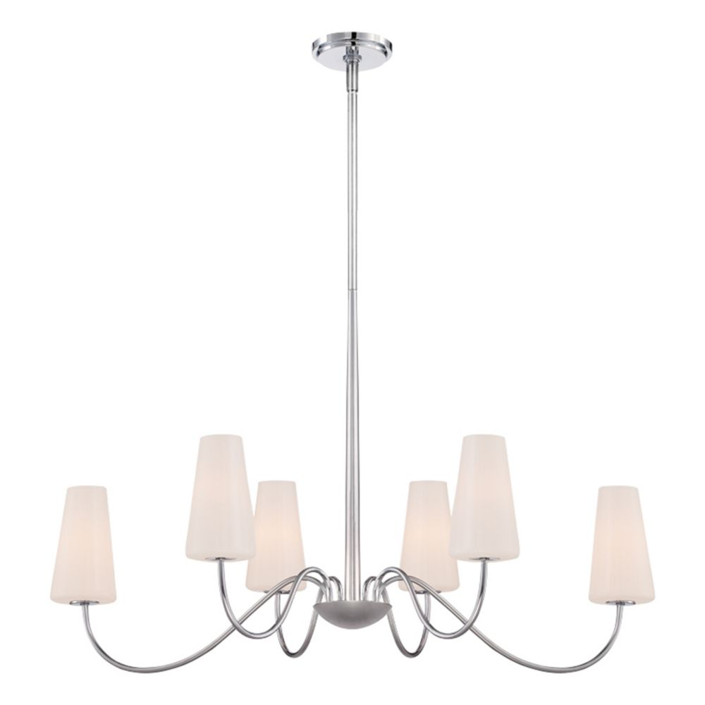 Eurofase Enza Collection, 6-Light Oval Chrome Chandelier