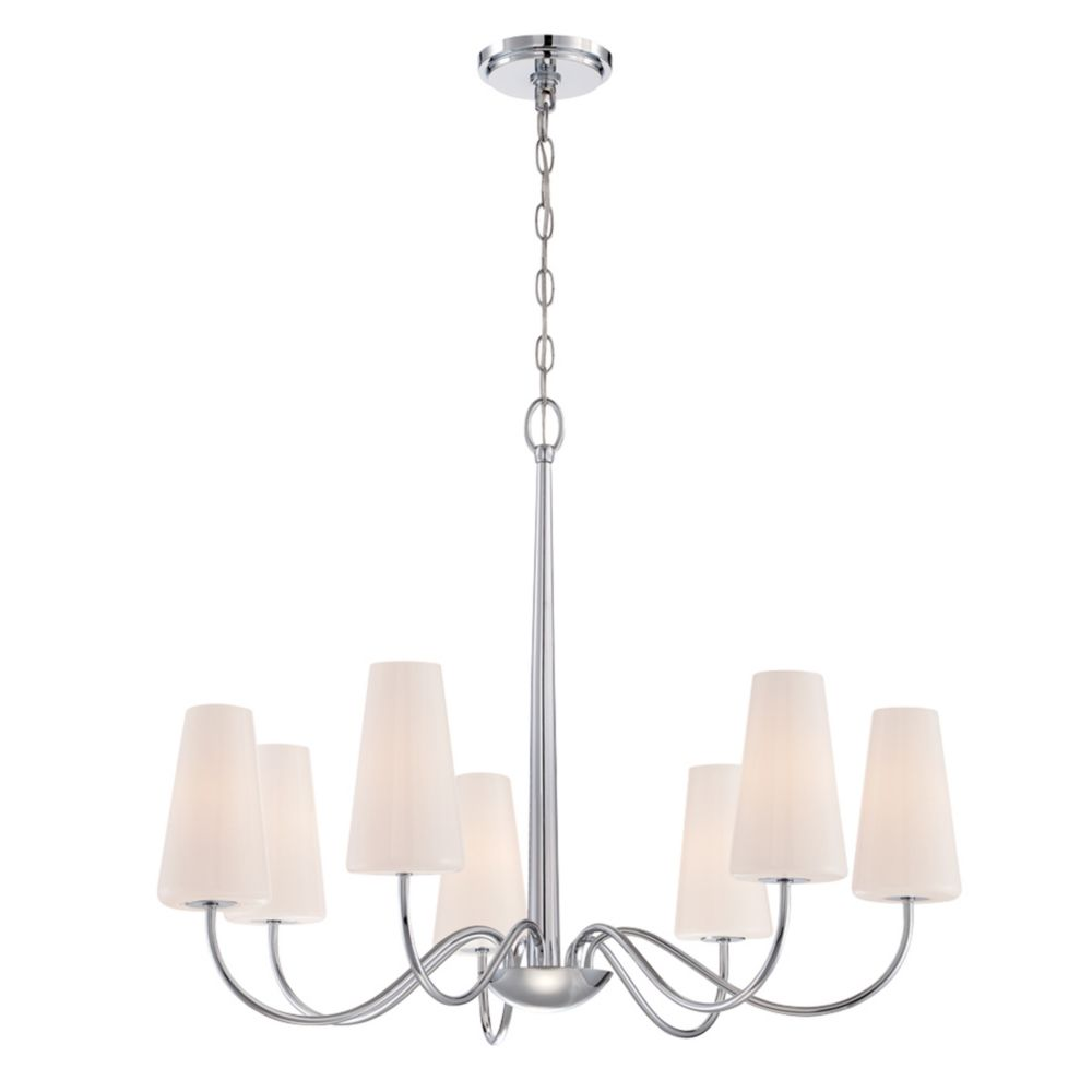 Enza Collection, 7-Light Chrome Chandelier