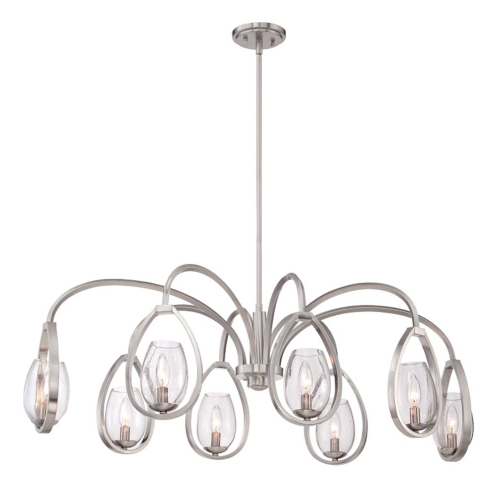 Fantini Collection, 8-Light Oval Satin Nickel Chandelier