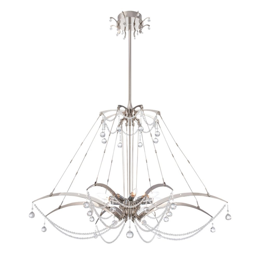Gambari Collection, 8-Light Chrome Chandelier