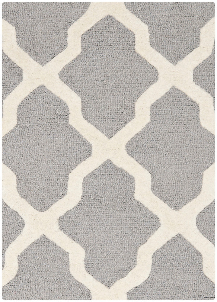 Cambridge Giselle Silver / Ivory 2 ft. x 3 ft. Indoor Area Rug