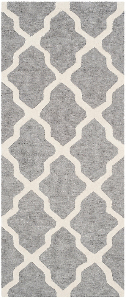 Cambridge Giselle Silver / Ivory 2 ft. 6 inch x 12 ft. Indoor Runner