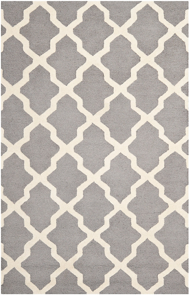 Cambridge Giselle Silver / Ivory 6 ft. x 9 ft. Indoor Area Rug