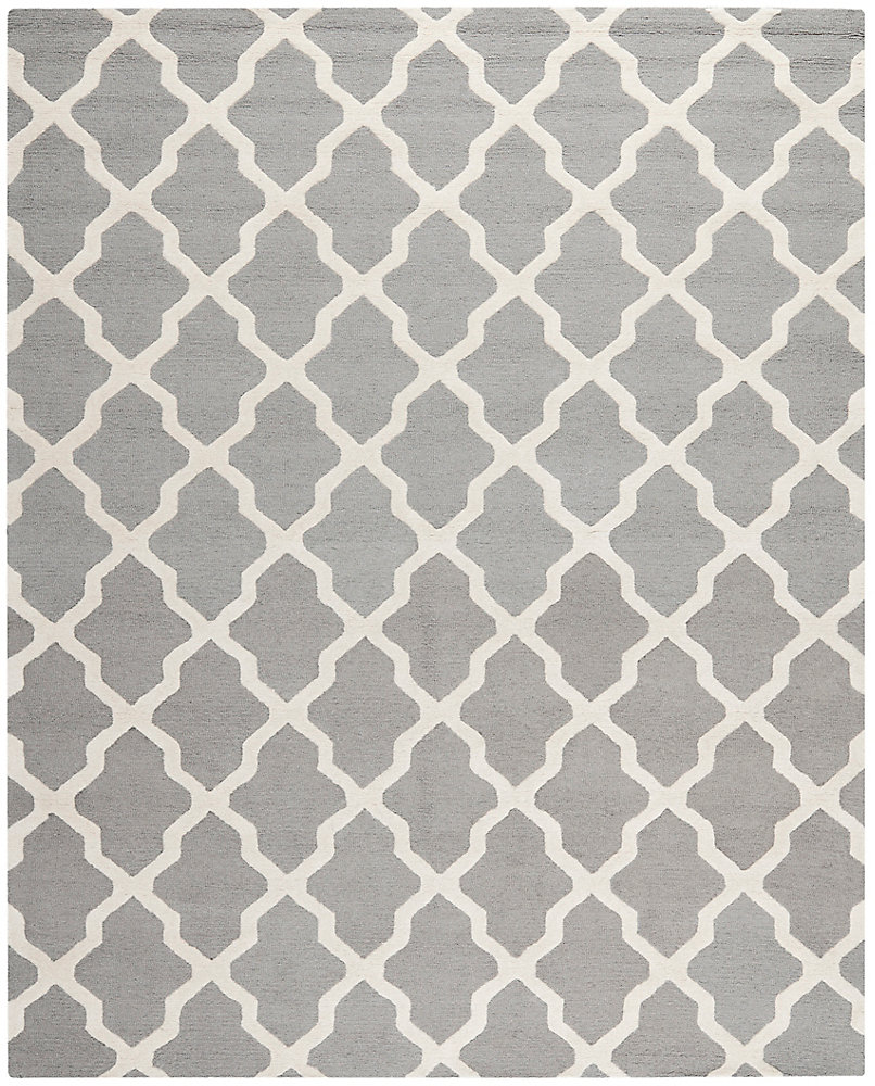 Cambridge Giselle Silver / Ivory 8 ft. x 10 ft. Indoor Area Rug