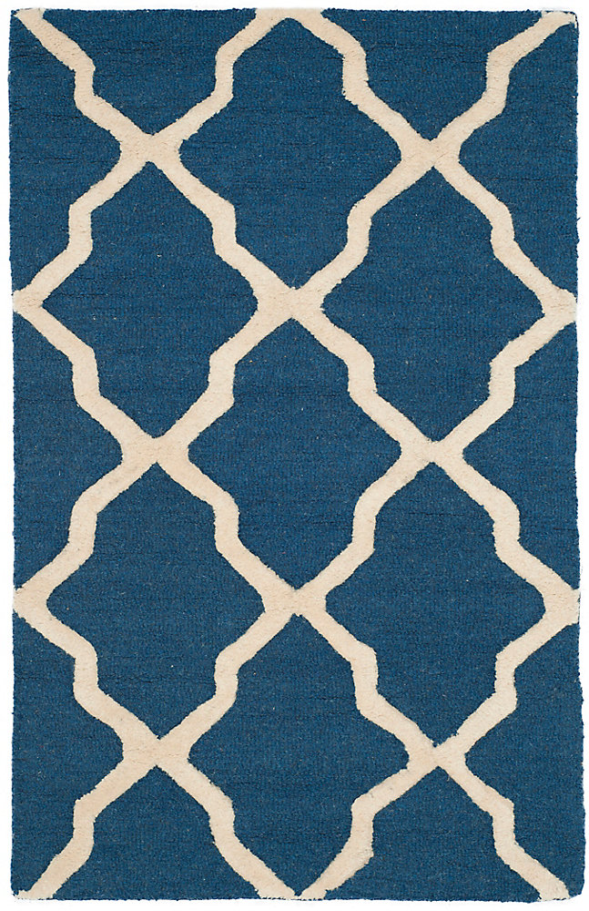 Cambridge Giselle Navy Blue / Ivory 3 ft. x 5 ft. Indoor Area Rug