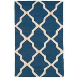 Safavieh Carpette, 3 pi x 5 pi, rectangulaire, bleu Cambridge