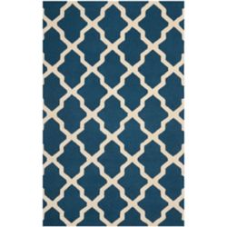 Safavieh Carpette, 5 pi x 8 pi, rectangulaire, bleu Cambridge