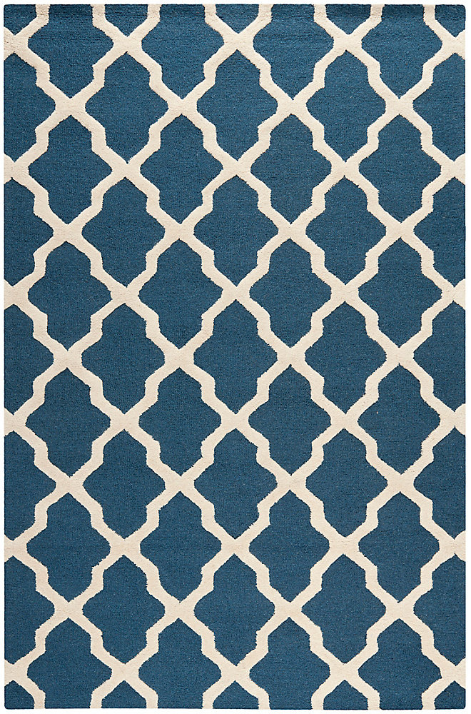 Carpette, 6 pi x 9 pi, rectangulaire, bleu Cambridge