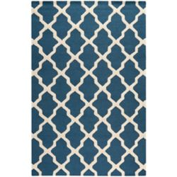 Safavieh Carpette, 6 pi x 9 pi, rectangulaire, bleu Cambridge