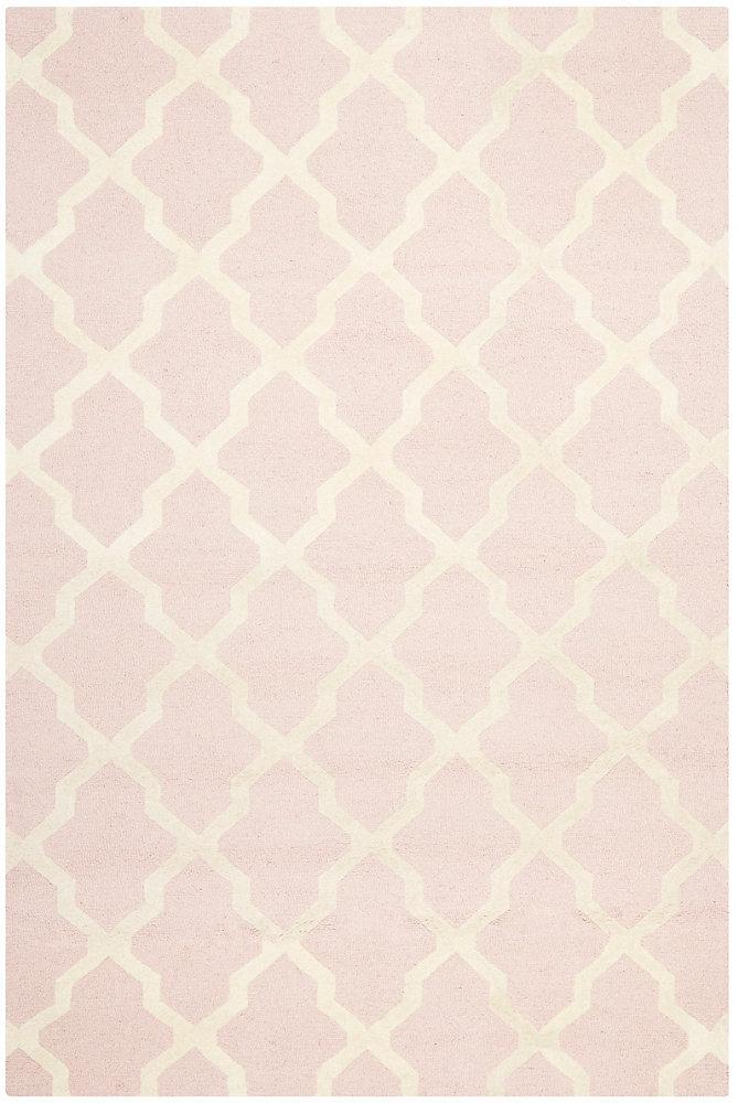 Carpette, 6 pi x 9 pi, rectangulaire, rose Cambridge