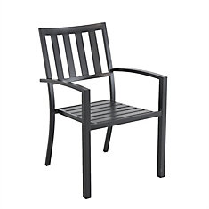 Steel Slat Patio Stacking Chair