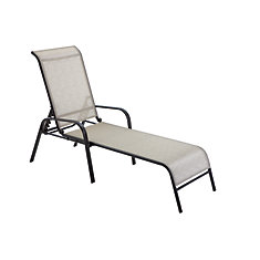 Chaise longue empilable