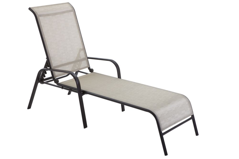Hampton Bay Chaise longue empilable