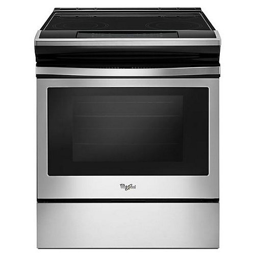 4.8 cu.ft. Slide-In Electric Range with Self-Cleaning Oven in Stainless Steel