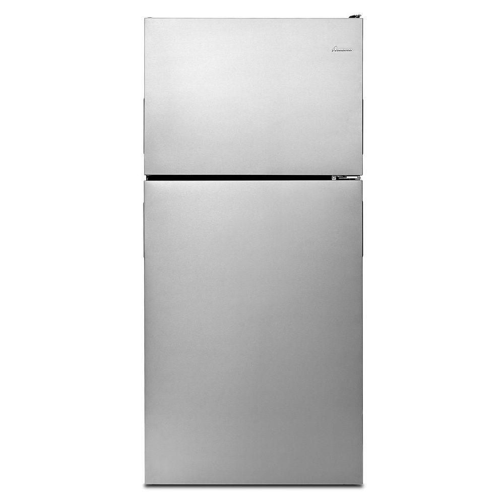 Réfrigérateur à congélateur supérieur Amana<sup>®</sup> avec tablettes en verre, 30 po,18 pi cu