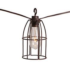 Retro Caged Café String Lights-8L