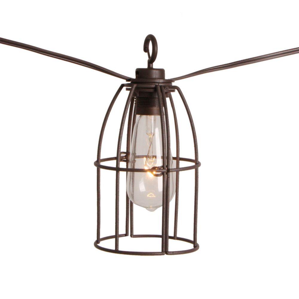 Hampton Bay Retro Caged Café String Lights-8L