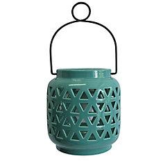 6.5-inch Ceramic Lantern in Haze