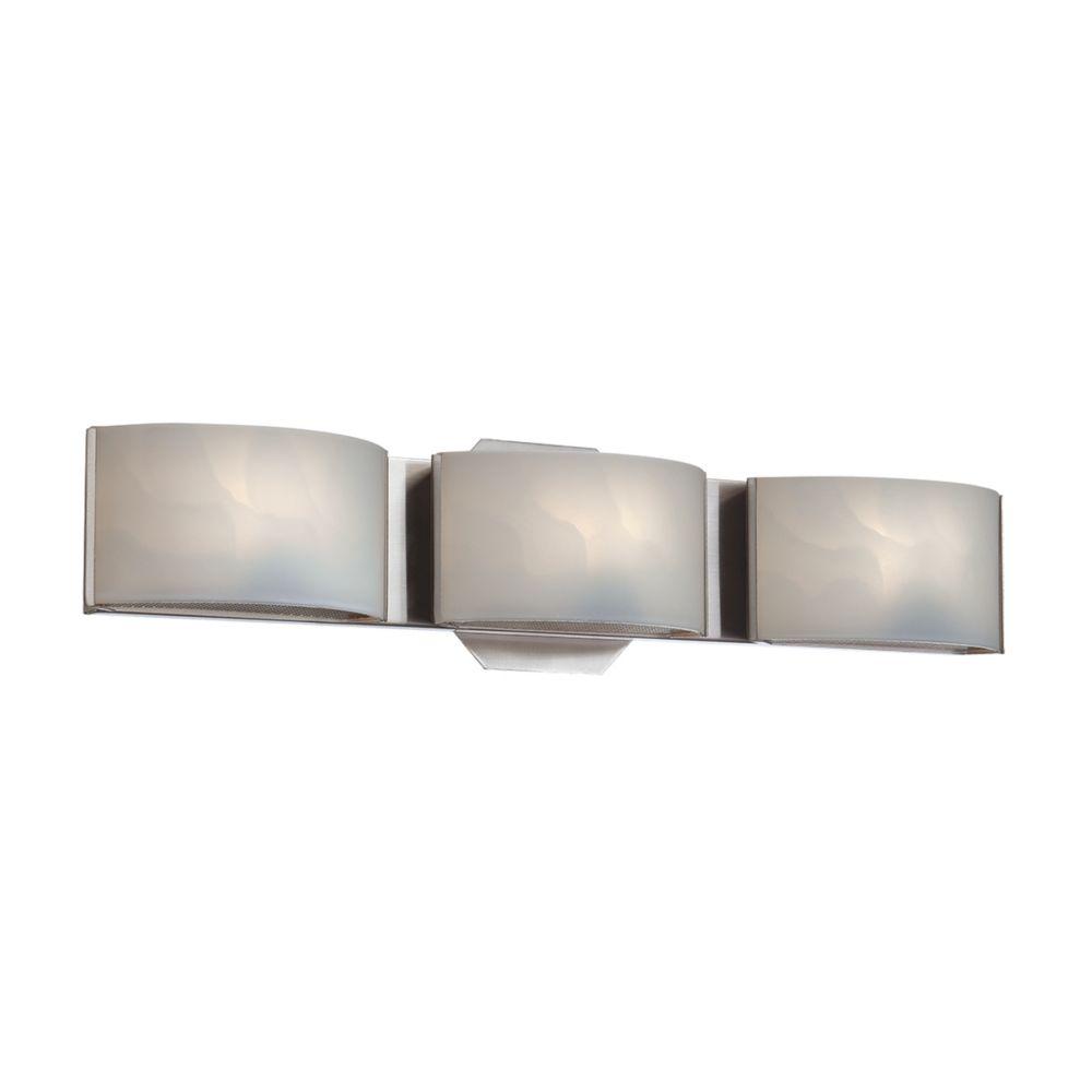 Eurofase Dakota Collection, 3-Light LED Chrome Bath Bar
