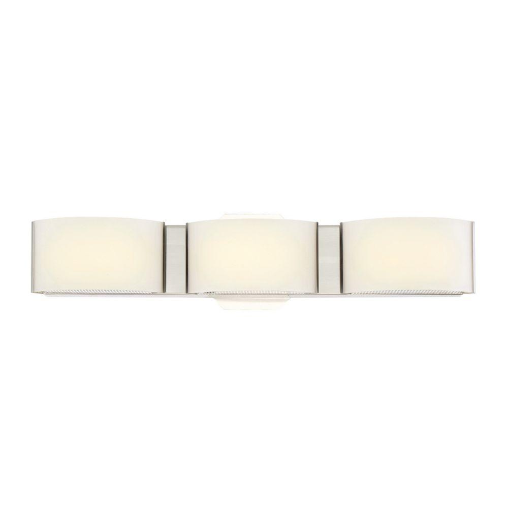 Dakota Collection, 3-Light LED Satin Nickel Bathbar
