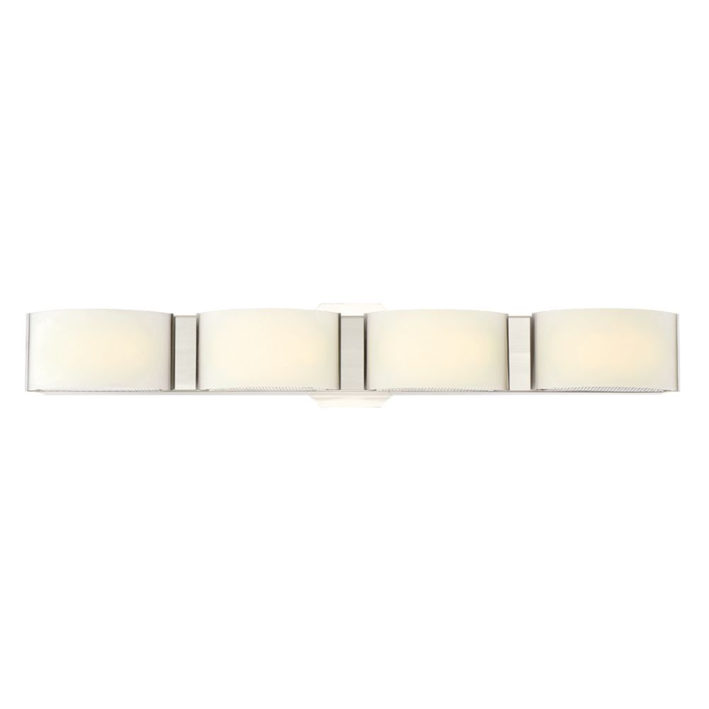 Dakota Collection, 4-Light LED Satin Nickel Bathbar