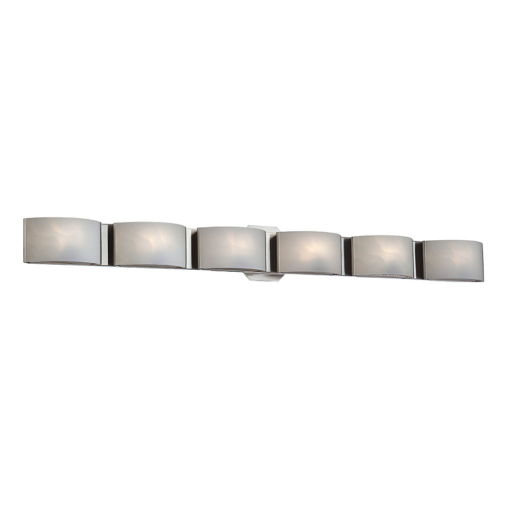 Dakota Collection, 6-Light LED Chrome Bath Bar
