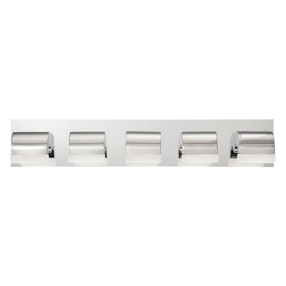 Newport Collection, 5-Light LED Chrome Bathbar
