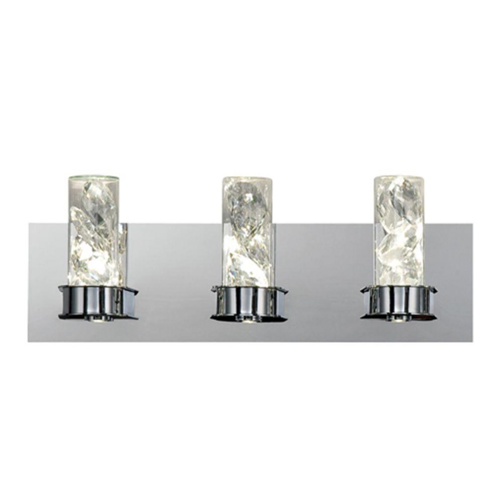 Collection York, barre déclairage de salle de bains chrome à 6ampoules DEL