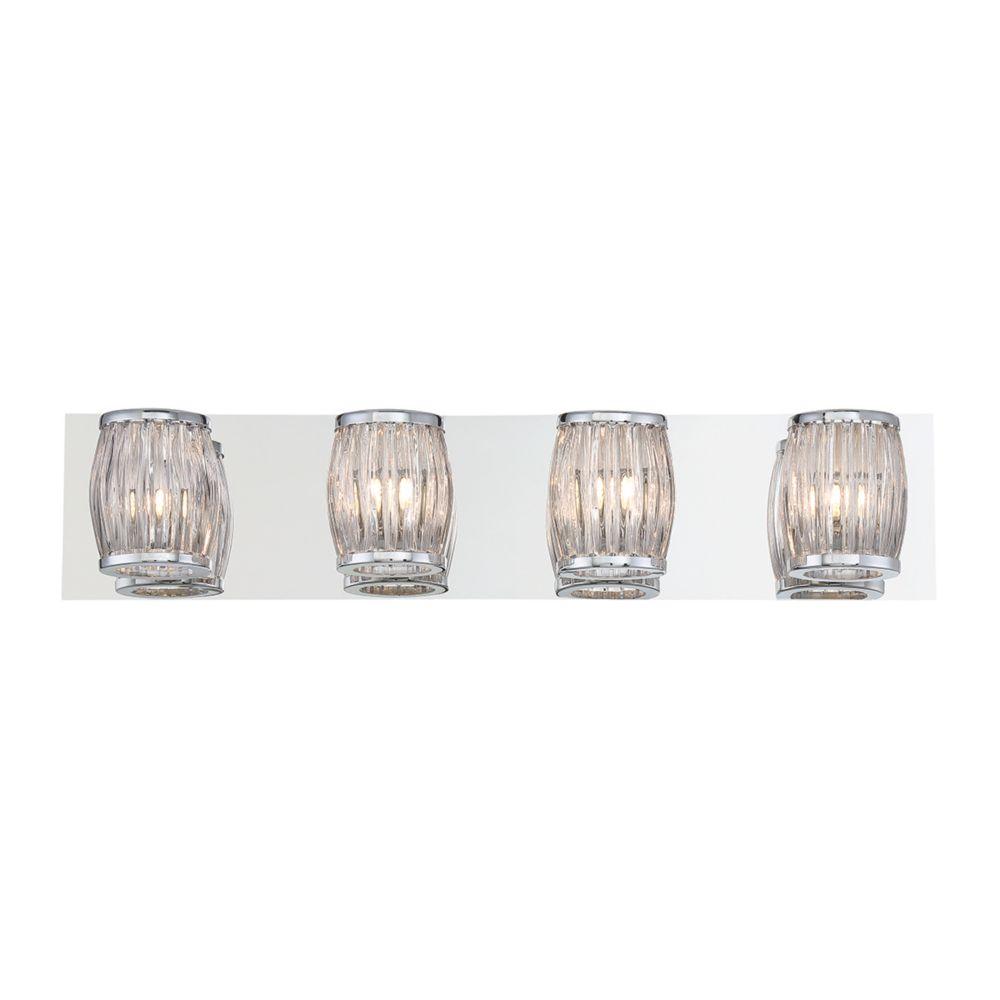 Barile Collection, 4-Light Chrome Bathbar