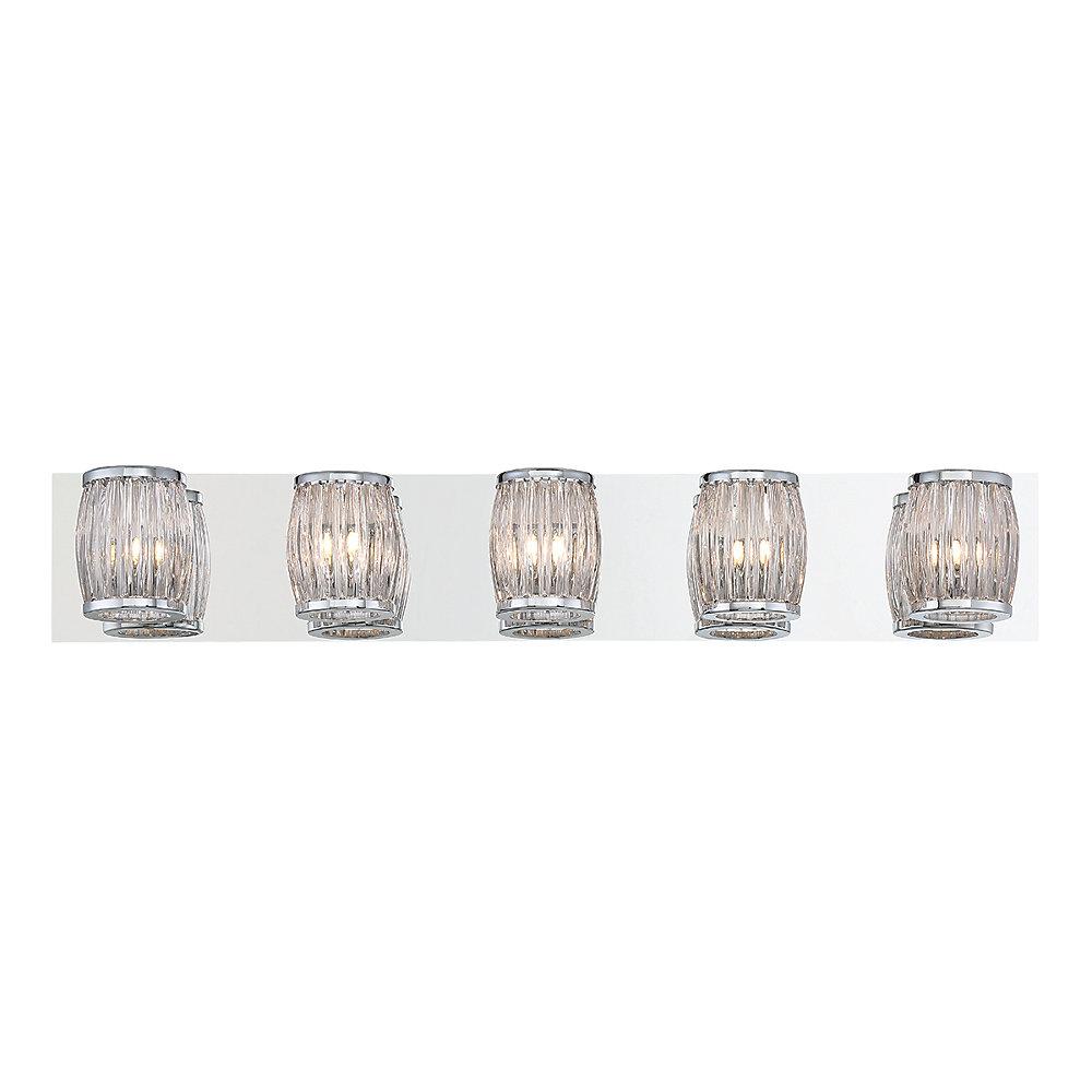 Barile Collection, 5-Light Chrome Bathbar