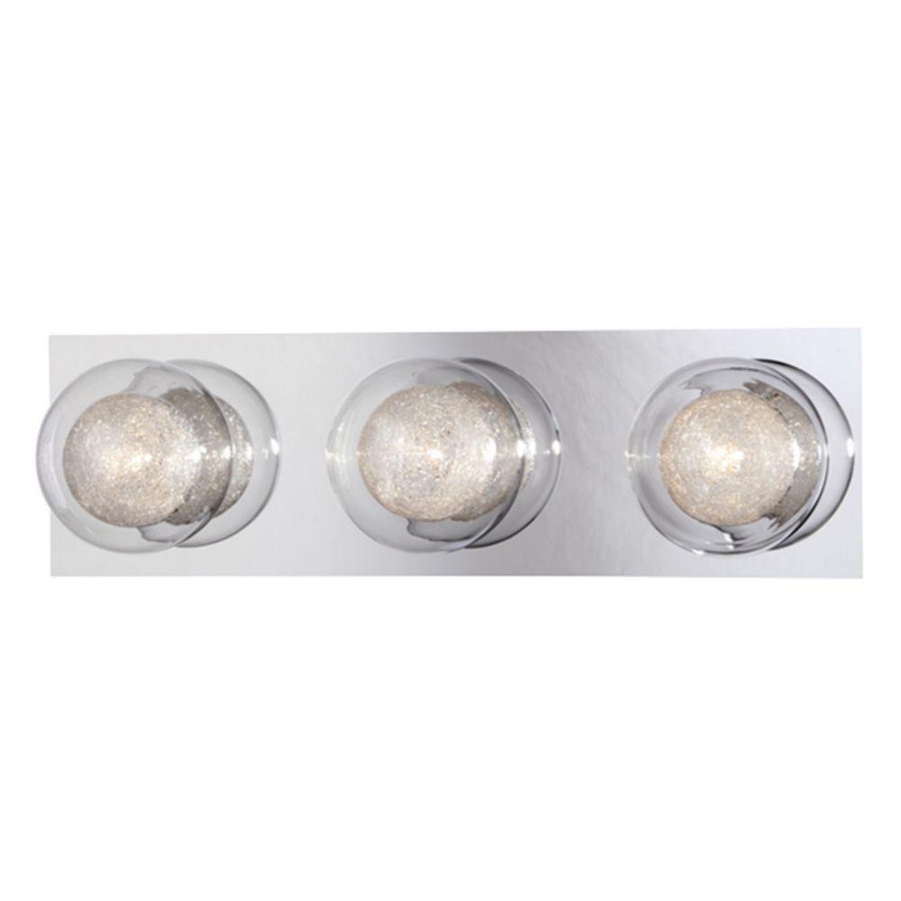 Collection Cambria, barre déclairage de salle de bains chrome à 3ampoules