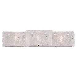 Collection Caramico, barre déclairage de salle de bains chrome à 3ampoules