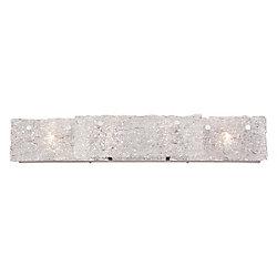 Collection Caramico, barre déclairage de salle de bains chrome à 4ampoules