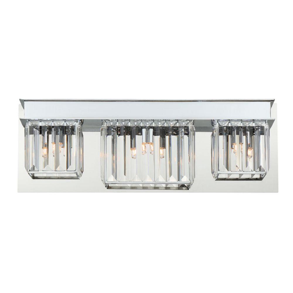 Lumino Collection, 3-Light Chrome Bathbar