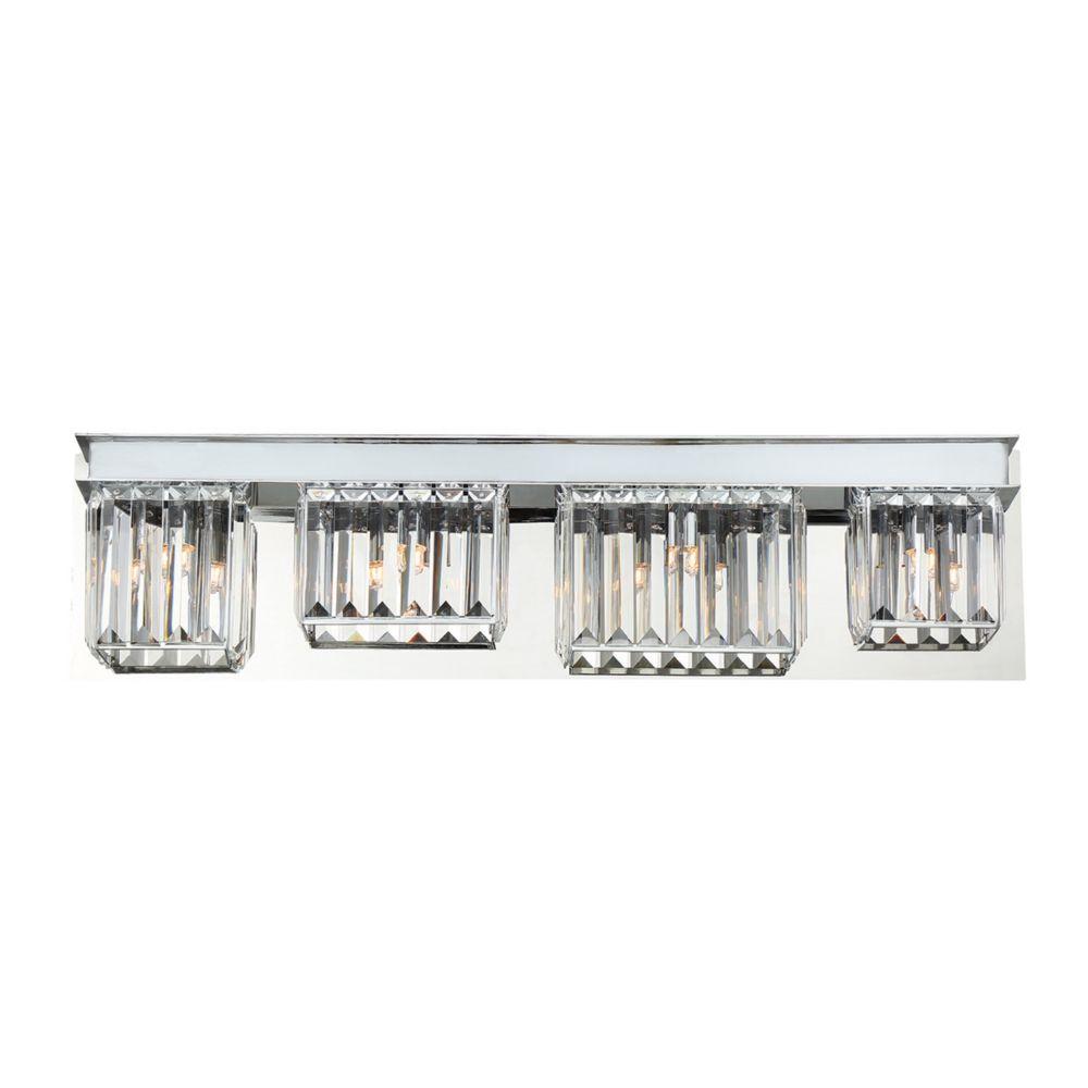 Lumino Collection, 4-Light Chrome Bathbar