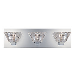 Zilli Collection, 3-Light Chrome Bathbar