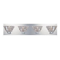 Zilli Collection, 4-Light Chrome Bathbar