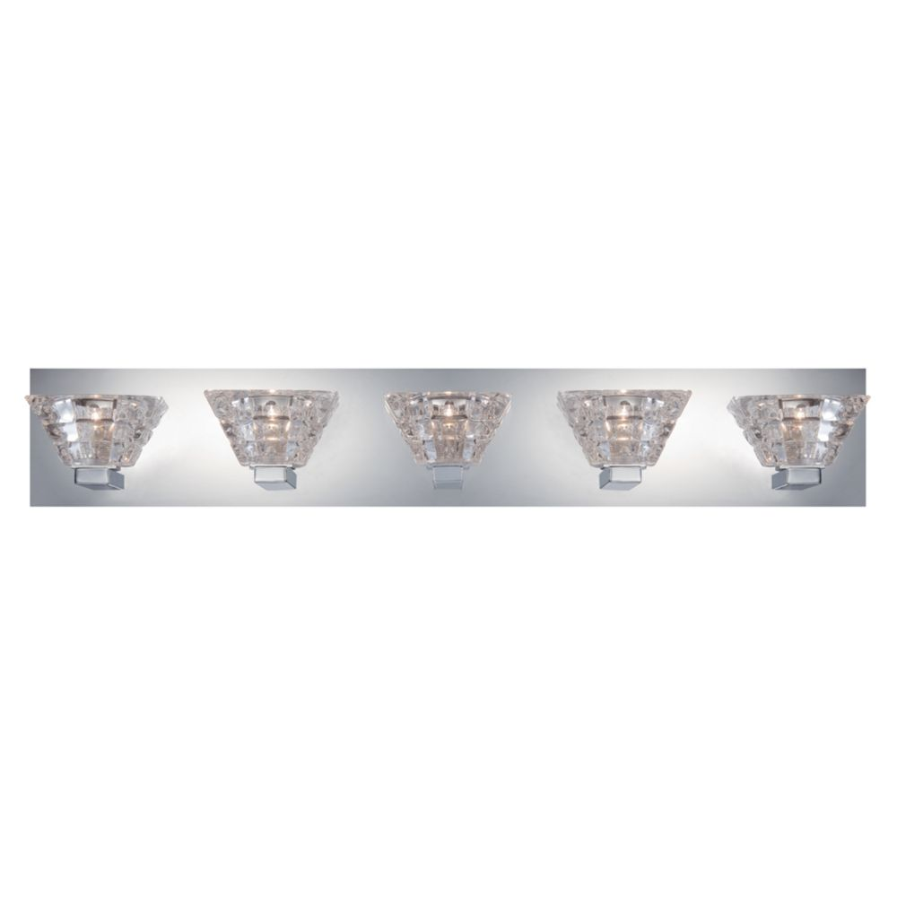 Zilli Collection, 5-Light Chrome Bathbar