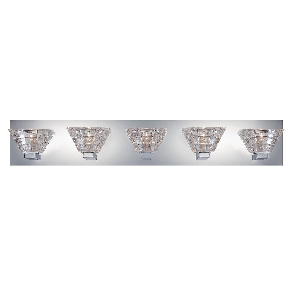 Zilli Collection, 5-Light Chrome Bath Bar