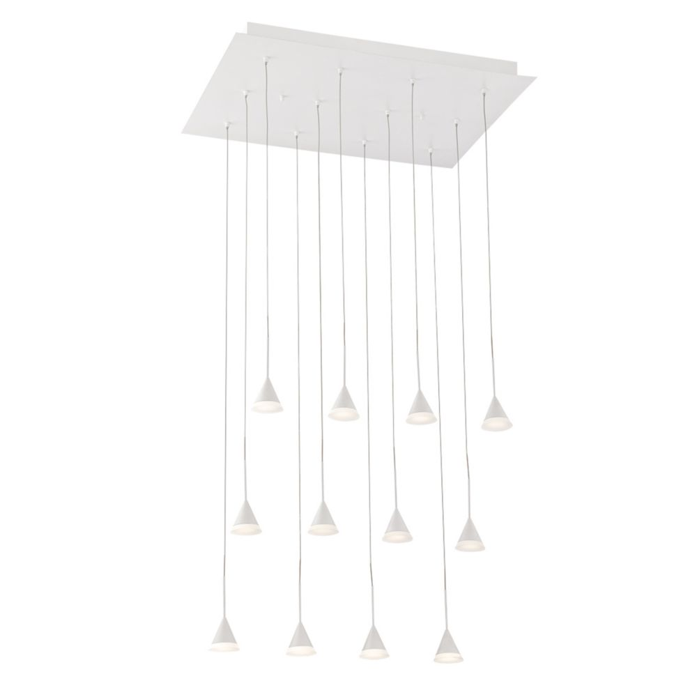 Albion Collection, 12-Light LED White Chandelier