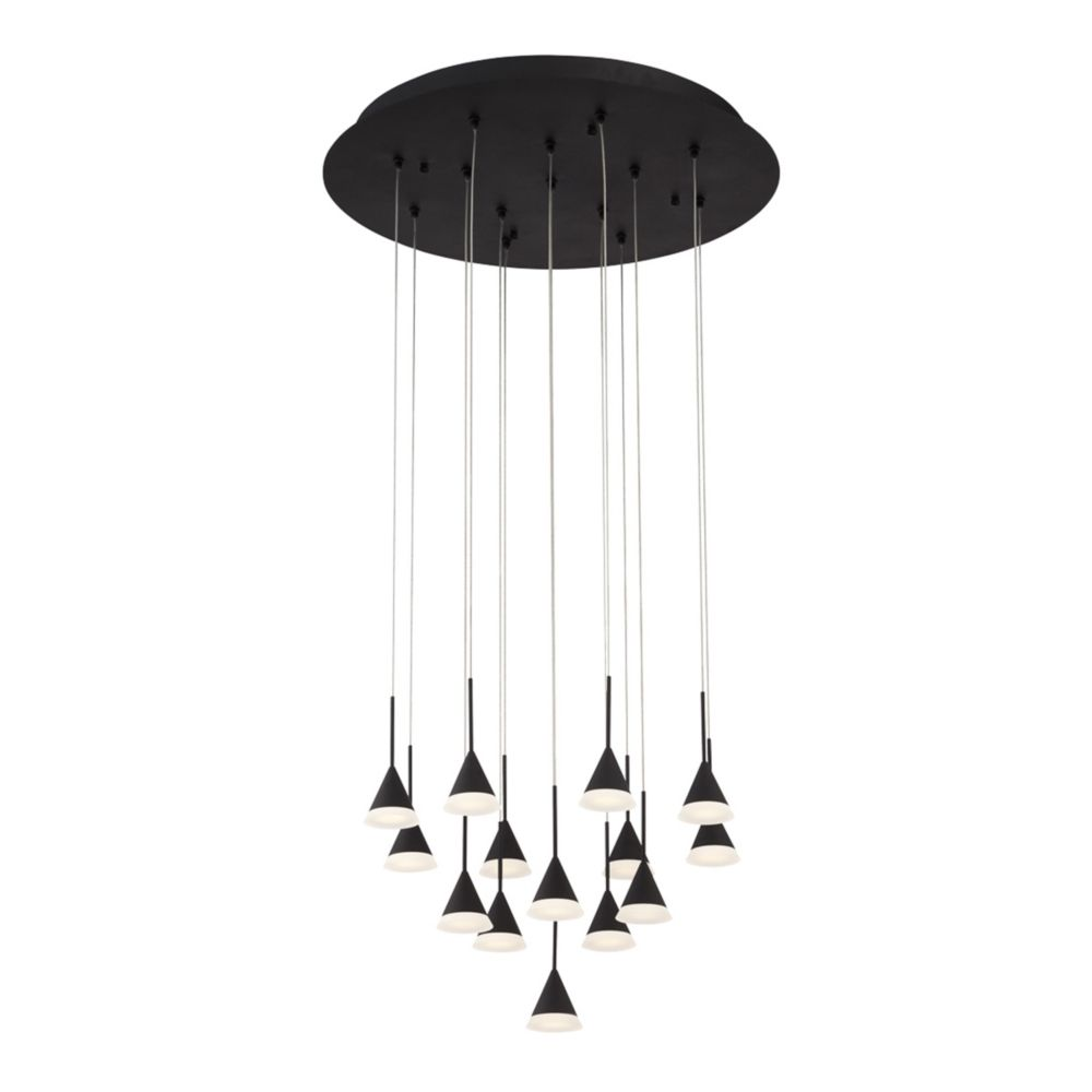 Eurofase Albion Collection, 14-Light LED Black Chandelier