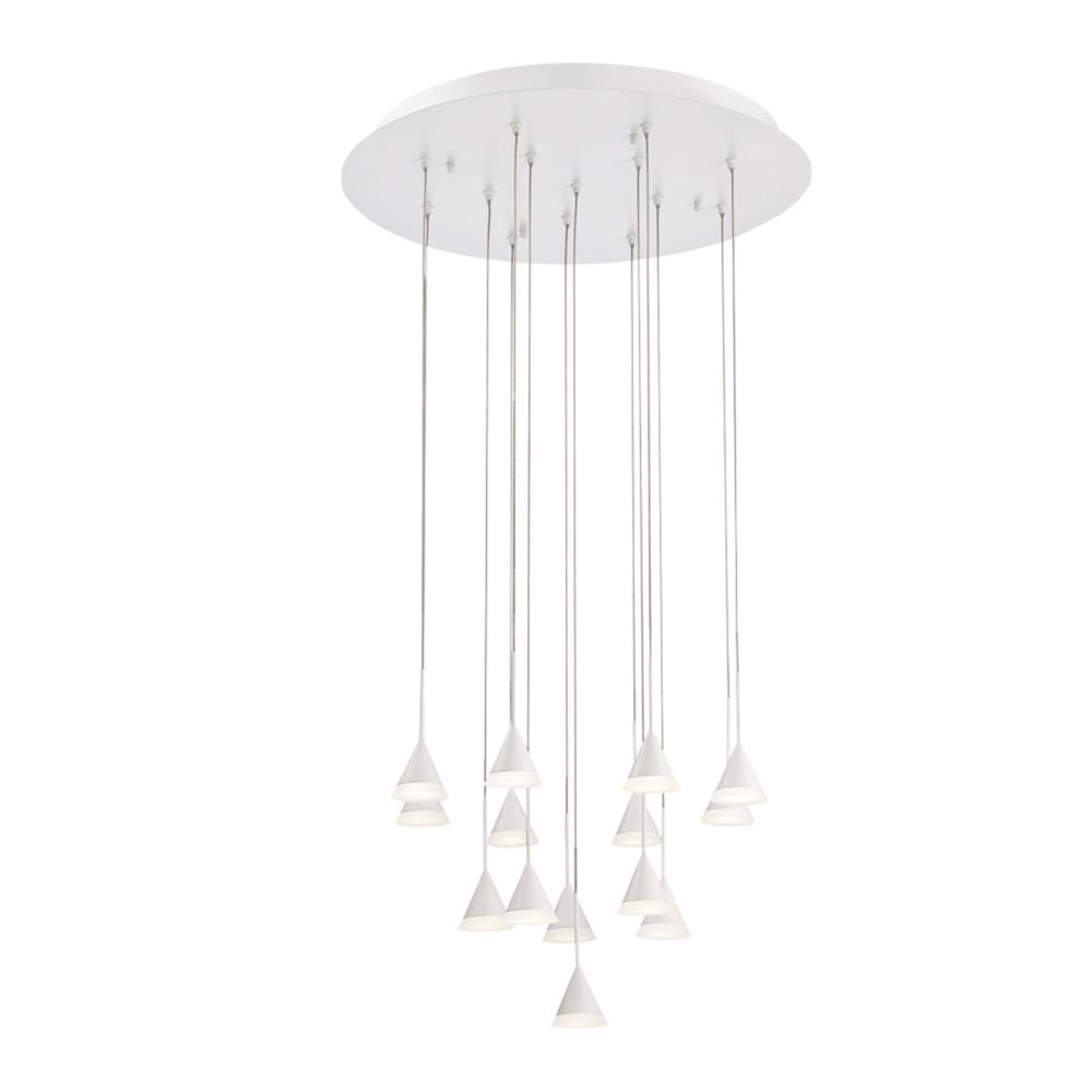 Albion Collection, 14-Light LED White Chandelier