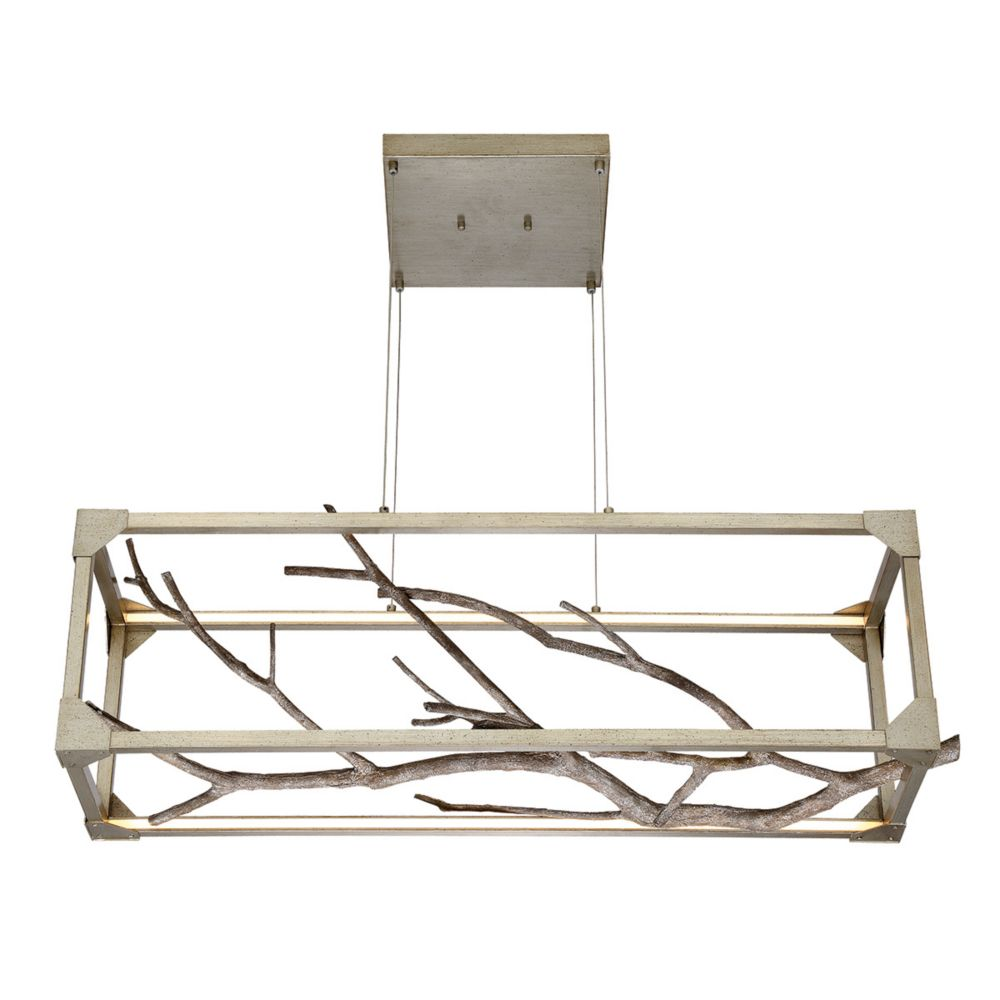 Aldo Collection, 1-Light Linear LED Silver Chandelier