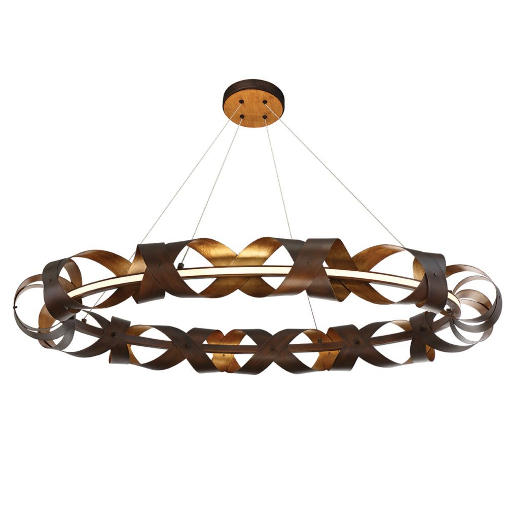 Banderia Collection, 1-Light Large LED Bronze Chandelier