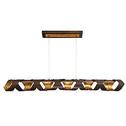 Banderia Collection, 1-Light Linear LED Bronze Chandelier