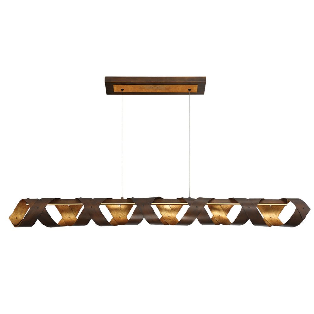 Collection Banderia, lustre linéaire bronze à 1ampoule DEL