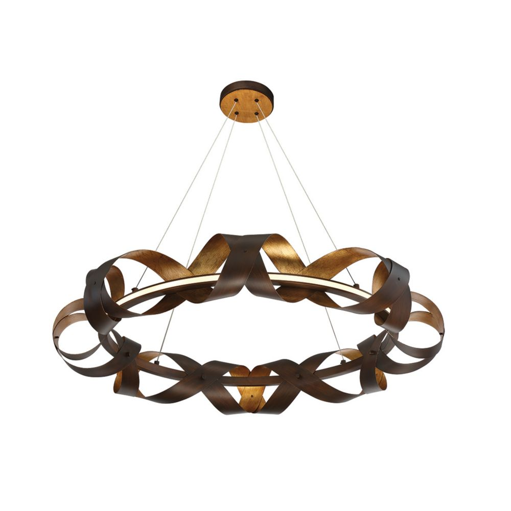 Collection Banderia, lustre moyen bronze à 1ampoule DEL