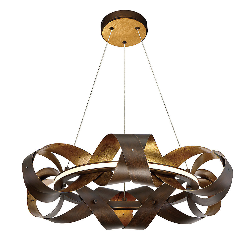 Banderia Collection, 1-Light Small LED Bronze Chandelier